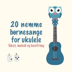 Sangbog med børnesange og ukulelegreb.